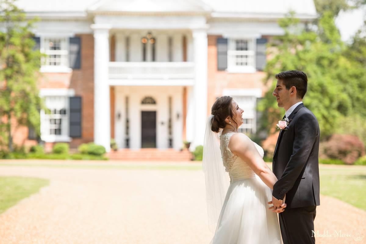 bride groom cedar hall portraits