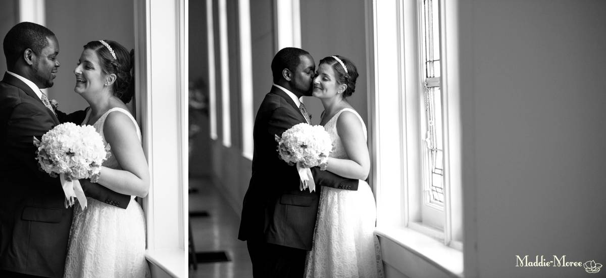 church bride and groom portraits