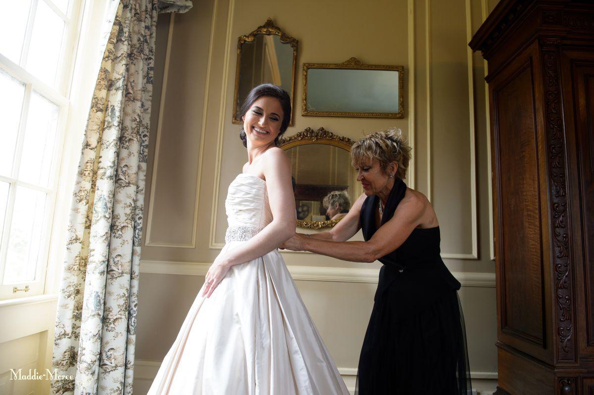bride dress, getting ready