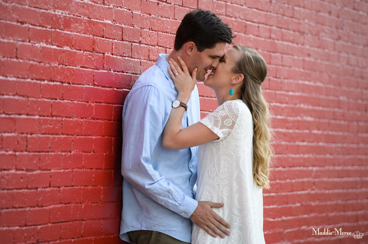red wall mural engagement