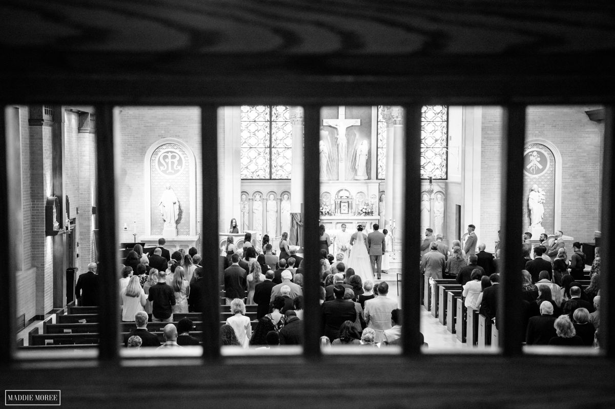 st louis catholic wedding ceremony second shooter