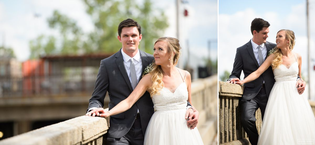 industrial bride groom portraits