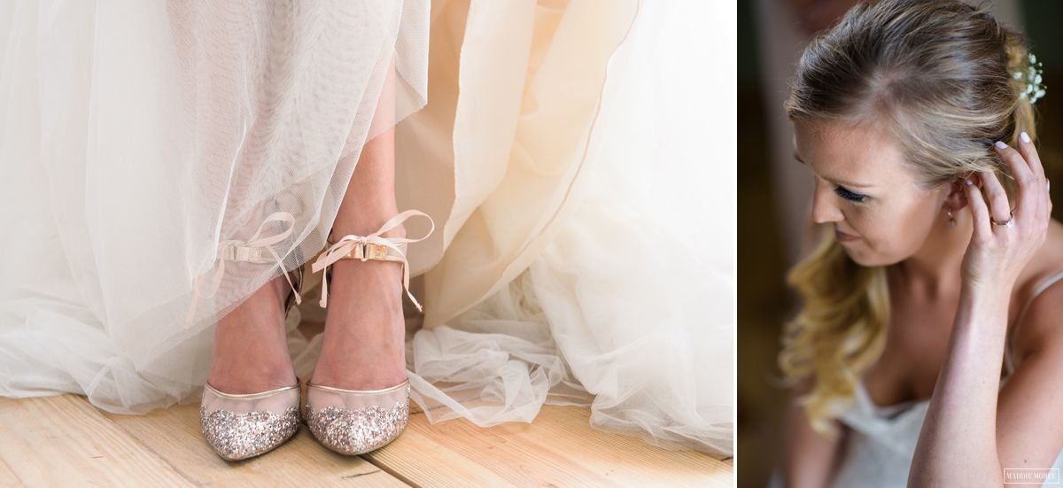 bride details wedding shoes