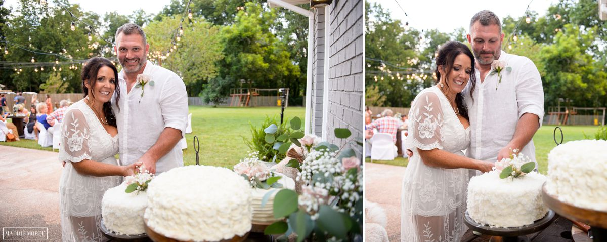 Marion small wedding cake cut