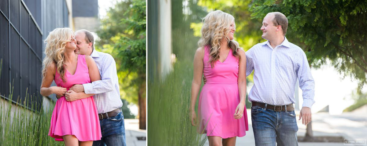 modern style downtown memphis engagement