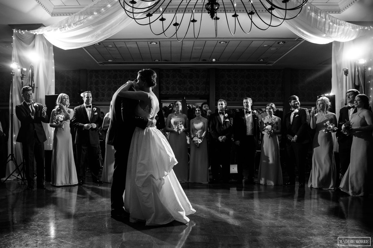 Chickasaw Country Club Memphis Wedding reception first dance