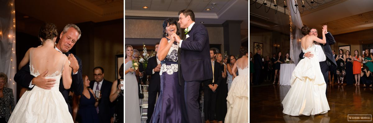 Chickasaw Country Club Memphis Wedding reception first dance parents