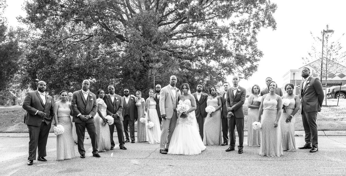 wedding party wedding photos