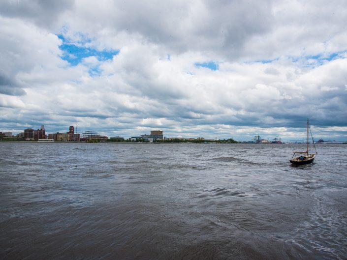 Little Boat in Delaware River Philadelphia