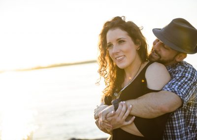 engagement photography on the river madison yen
