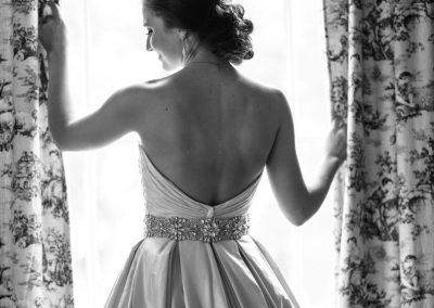 bridal portrait at the window