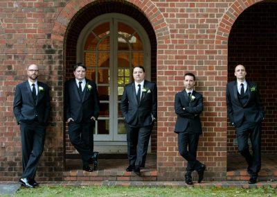 groomsmen wedding party engagement