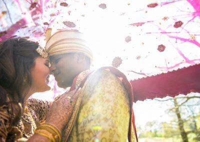 Diverse wedding couple